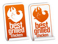Best grilled chicken stickers. Stock Image