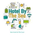 Best Hotel On The Coast - linear concept Royalty Free Stock Photo