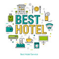 Best Hotel Service - Line Concept Royalty Free Stock Photo