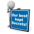 Best kept secrets Royalty Free Stock Photo