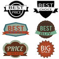 Best labels on white background Royalty Free Stock Photos