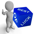 Best of luck dice represents gambling and fortune representing Stock Images
