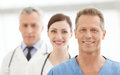 The best medical team successful doctors team standing together and smiling Stock Photography