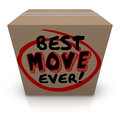 Best Move Ever Packing Cardboard Box Moving New Home Royalty Free Stock Photo