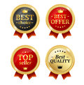 Best Offer or Choice Sale Label Medal Set. Vector Royalty Free Stock Photo