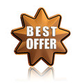 Best offer in golden star Royalty Free Stock Photography