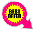Best offer icon Stock Image