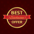 Best offer label Royalty Free Stock Photo