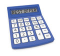 Best offer one calculator with text d render Stock Photo