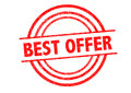BEST OFFER Rubber Stamp Royalty Free Stock Photo