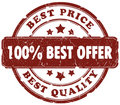 Best offer stamp Royalty Free Stock Photo