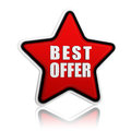 Best offer star button Royalty Free Stock Photo