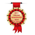Best Online Newspaper 2016 Royalty Free Stock Photo