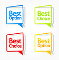 Best option and choice sticker collection 2 Royalty Free Stock Images