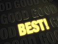Best over good a bright gold glowing on a dark background of goods Royalty Free Stock Photos