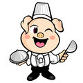 The Best Pig chef's Smile Royalty Free Stock Photo