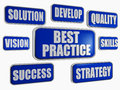 Best practice - blue business concept Stock Image