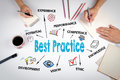 Best Practice. The meeting at the white office table Royalty Free Stock Photo