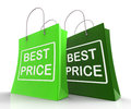 Best Price Bags Represent Discounts and Bargains Royalty Free Stock Photos