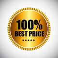 Best Price Golden Label Vector Illustration Royalty Free Stock Photo