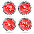 Best price labels set  Stock Photo