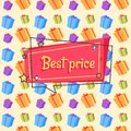 Best Price Proposal Banner Seamless Pattern Vector Royalty Free Stock Photo