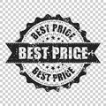 Best price sale scratch grunge rubber stamp. Vector illustration Royalty Free Stock Photo
