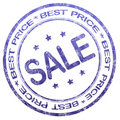 Best price sale stamp Royalty Free Stock Photo