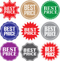 Best price signs set, best price sticker set, vector illustratio Royalty Free Stock Photo