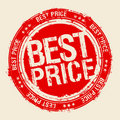 Best price stamp. Royalty Free Stock Photo