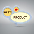 Best product logo in gray colors Royalty Free Stock Images