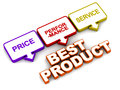 Best product traits like price performance and after sales service Stock Images