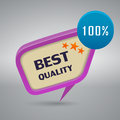 Best quality decorative stamp on gray background Royalty Free Stock Images