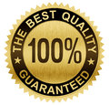 Best quality guaranteed gold seal medal with clipping path included Stock Photos