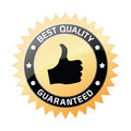 Best quality guaranteed label Royalty Free Stock Photo