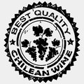 Best quality label for chilean wine rubber stamp Royalty Free Stock Image