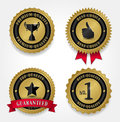 Best Quality Labels - Golden Royalty Free Stock Photo