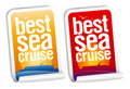 Best sea cruise stickers Stock Photos