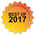 Best of 2017 seal Royalty Free Stock Photo