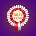 Best seller badge vector illustration Royalty Free Stock Images