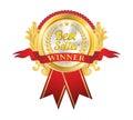 Best Seller Golden Badge Royalty Free Stock Photo