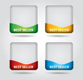 Best seller label template with copy space area Stock Images