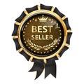 Best seller - luxurious award ribbon Royalty Free Stock Photo