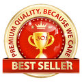 Best seller, Premium Quality, because we care - luxurious icon Royalty Free Stock Photo