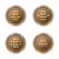 Best seller,price,deal,and choice badge label button set Royalty Free Stock Photo