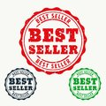 Best seller rubber stamp sign Royalty Free Stock Photo