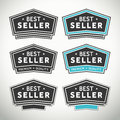 Best seller seals and badges Royalty Free Stock Photo
