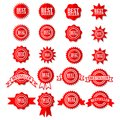 Best Seller Sign Symbol - Red Bestseller Award Icon Set Stars Stickers Royalty Free Stock Photo