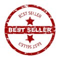 Best seller stamp seal with star Royalty Free Stock Photo