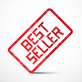 Best Seller Vector Red Stamp Royalty Free Stock Photo